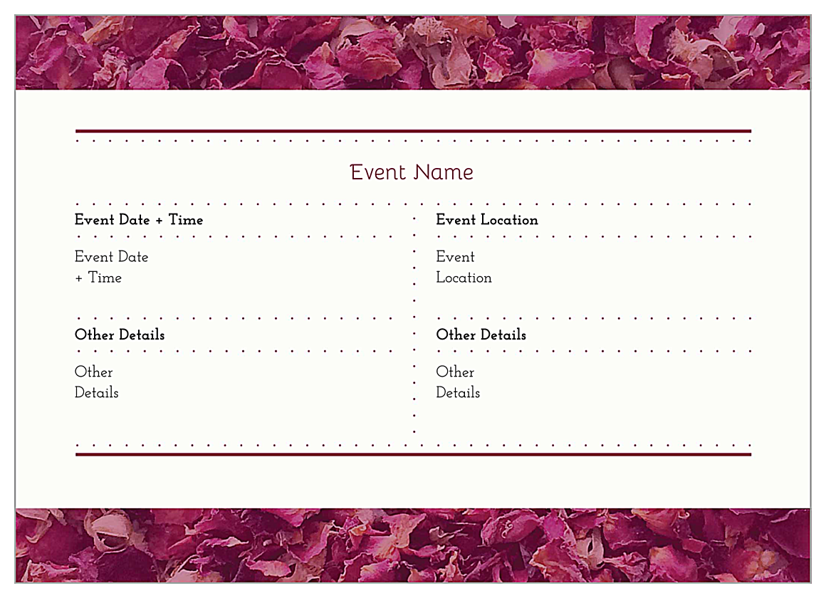Easy to use potpourri heart invitation card design template easy to use potpourri heart invitation card design template back invitation cards maker stopboris Images