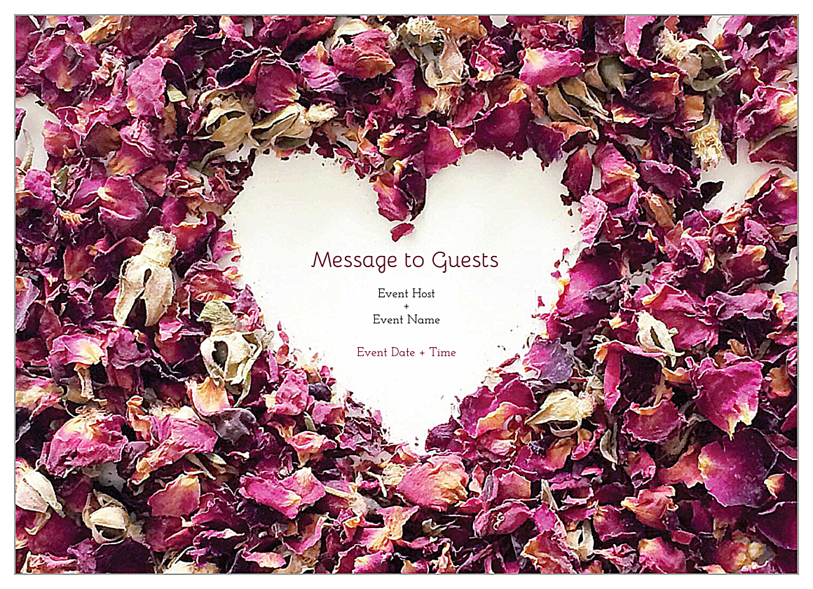 EasyToUse Potpourri Heart Invitation Card Design Template