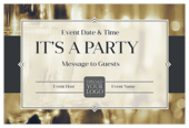 Pop Champagne - invitation-cards Maker