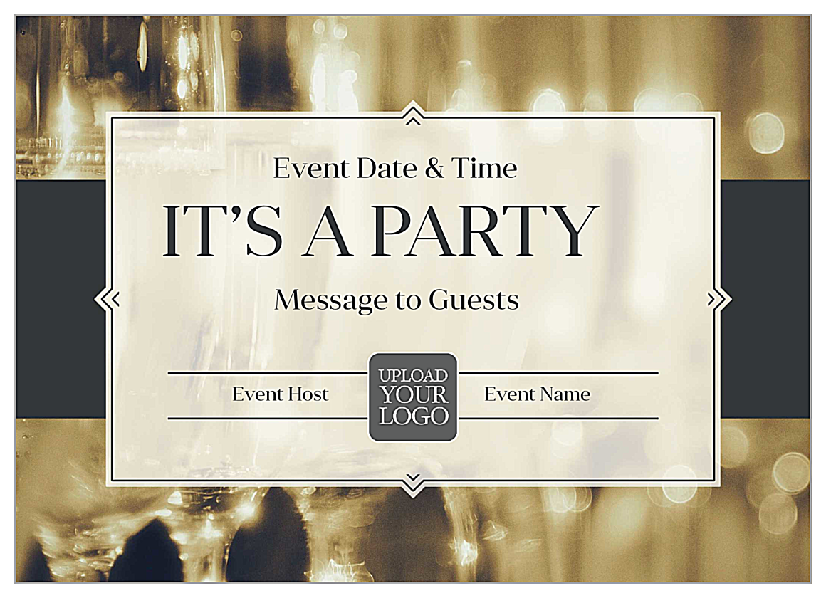 Pop Champagne front - Invitation Cards Maker