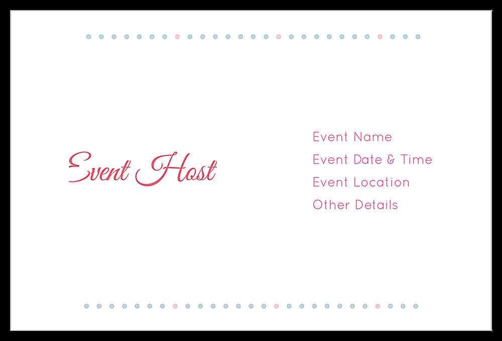 Flower Dots back - Invitation Cards Maker