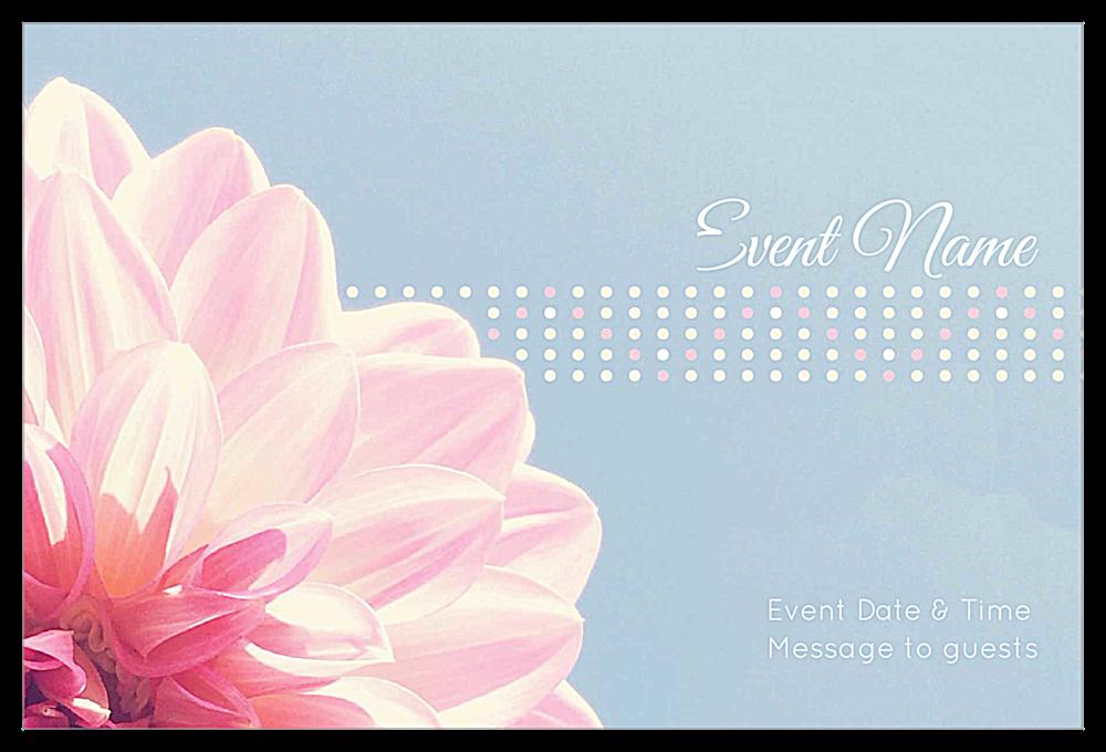 Flower Dots front - Invitation Cards Maker