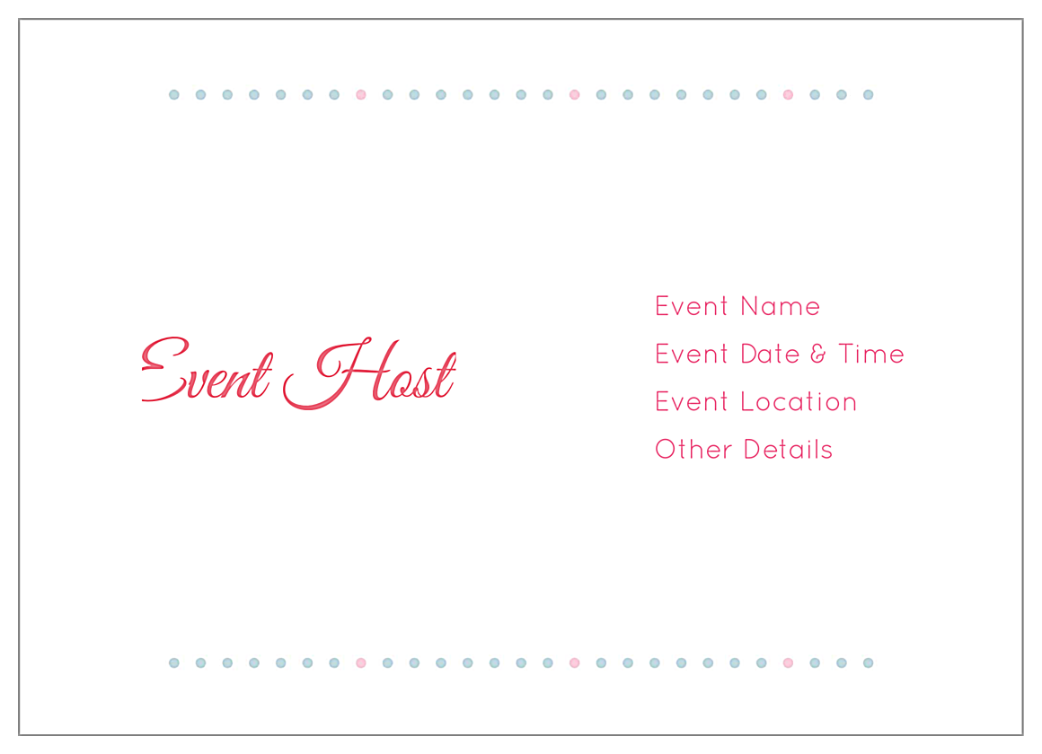 Easy-To-Personalize Flower Dots Invitation Card Templates back - Invitation Cards Maker