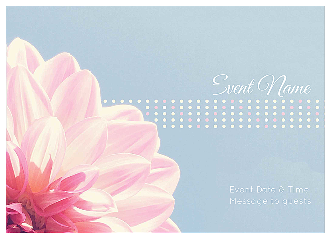 easy to personalize flower dots invitation card templates
