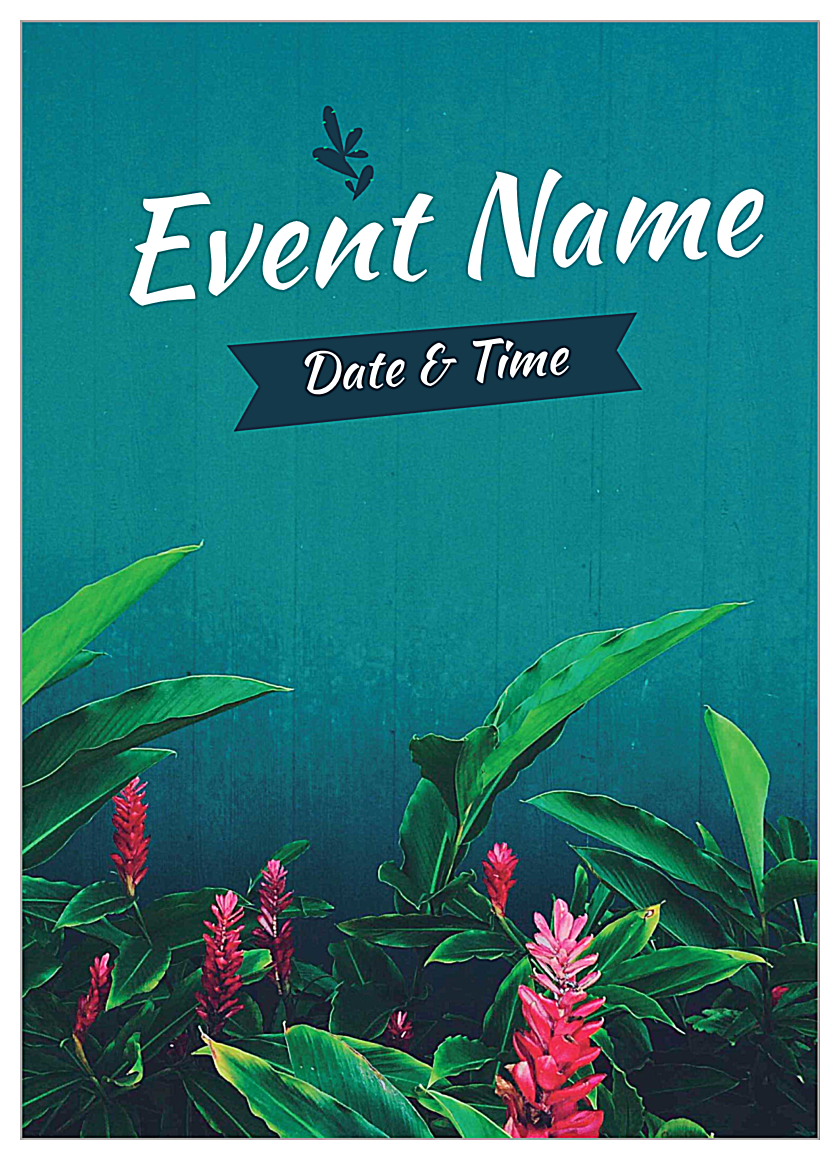 Tropical Event front - Invitation Cards Maker