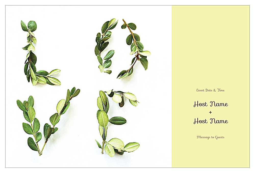 Love It And Leaf It front - Invitation Cards Maker