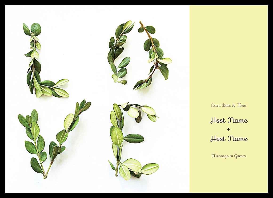 Free Lovely Laurel Invitation Card Design Template