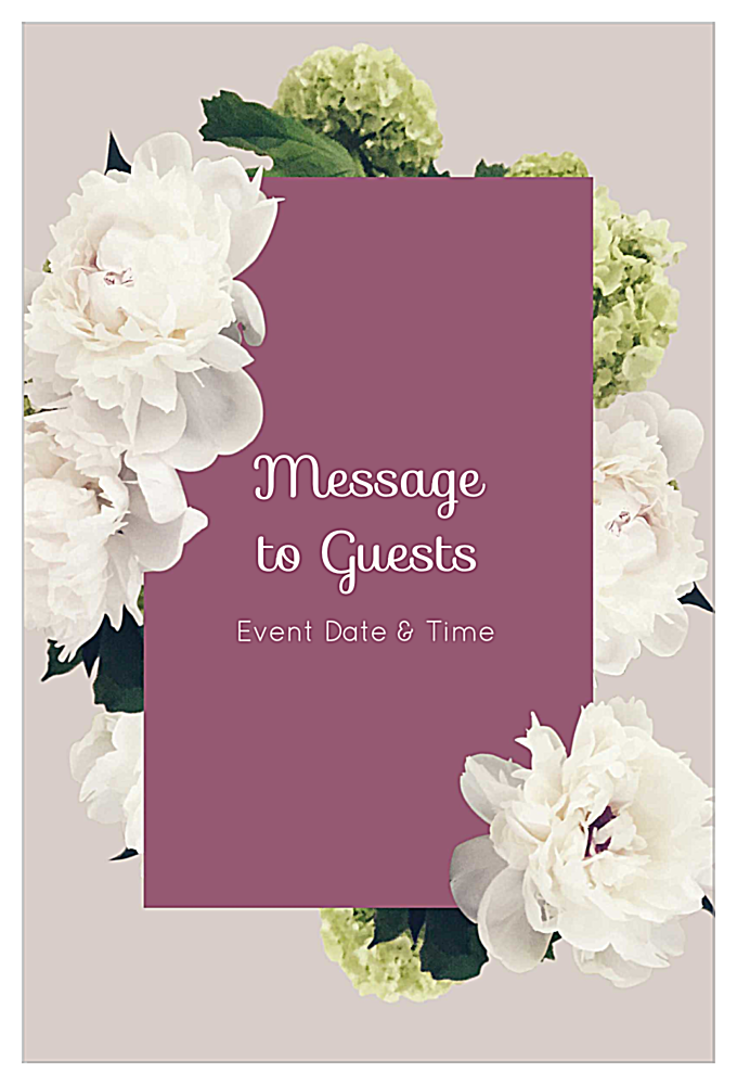 White Flowers front - Invitation Cards Maker