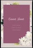 White Flowers - invitation-cards Maker