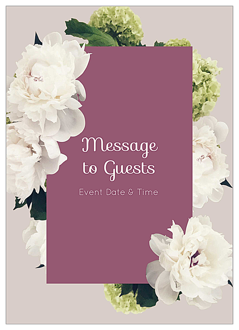 Easy-To-Use White Flowers Invitation Card Design Templates front - Invitation Cards Maker