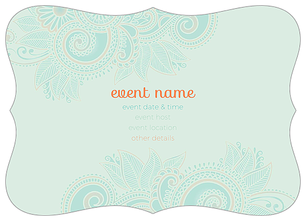 Easy-To-Use Save the Paisley Invitation Card Design Template back - Invitation Cards Maker