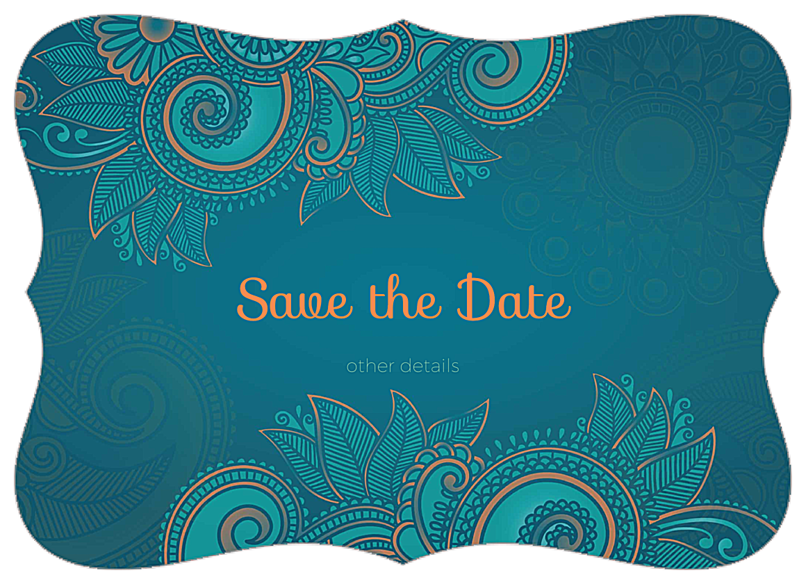 EasyToUse Save the Paisley Invitation Card Design Template