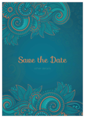 Save the Paisley - invitation-cards Maker