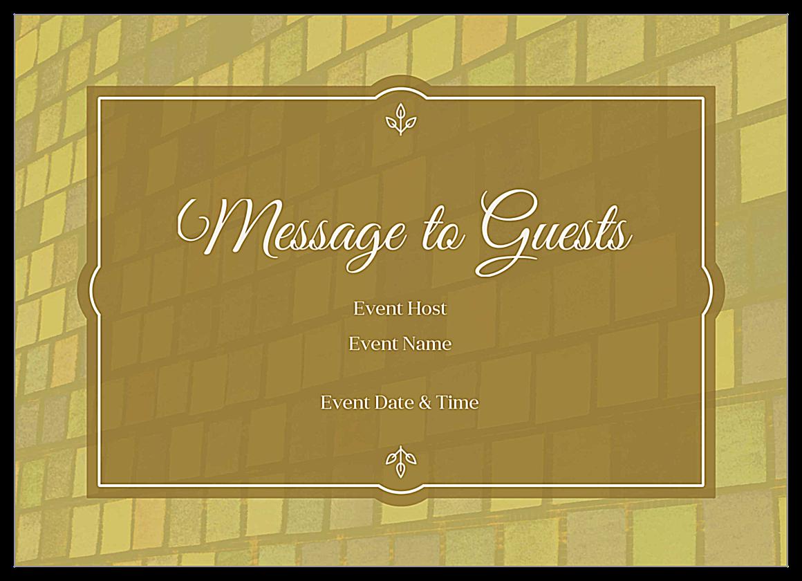 Color Tiles front - Invitation Cards Maker