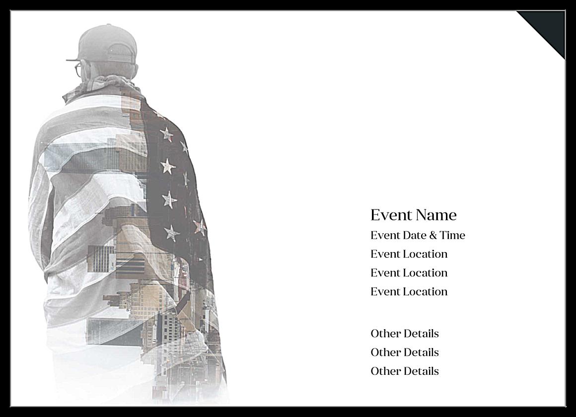 The Patriot back - Invitation Cards Maker