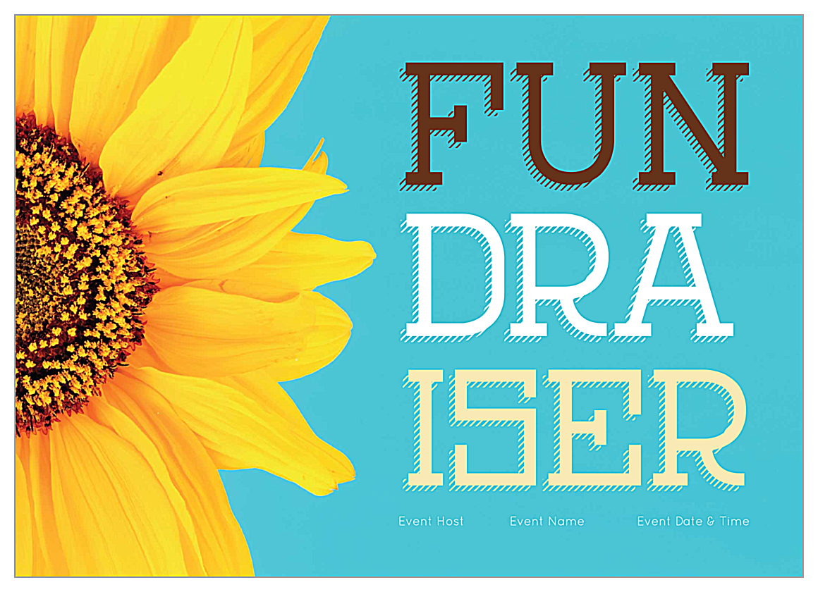Sunflower Day front - Invitation Cards Maker