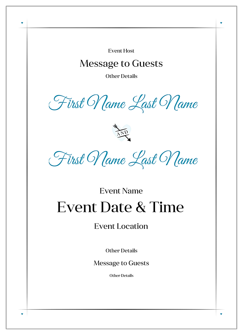 EasyToUse Bold Stripes Invitation Card Design Template
