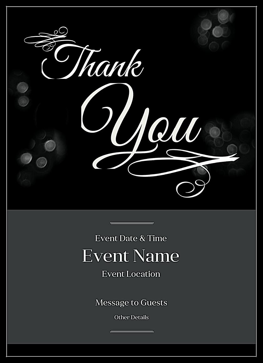 Free Shimmering Bokeh Invitation Card Design Templates front - Invitation Cards Maker