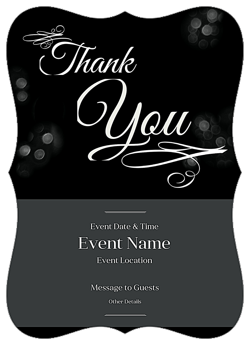 Free Shimmering Bokeh Invitation Card Design Templates front - Invitation Cards Maker