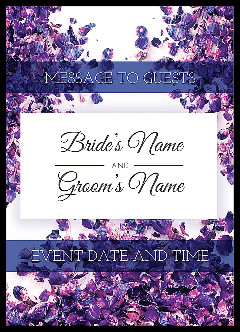 Scattered Flowers front - Invitation Cards Maker