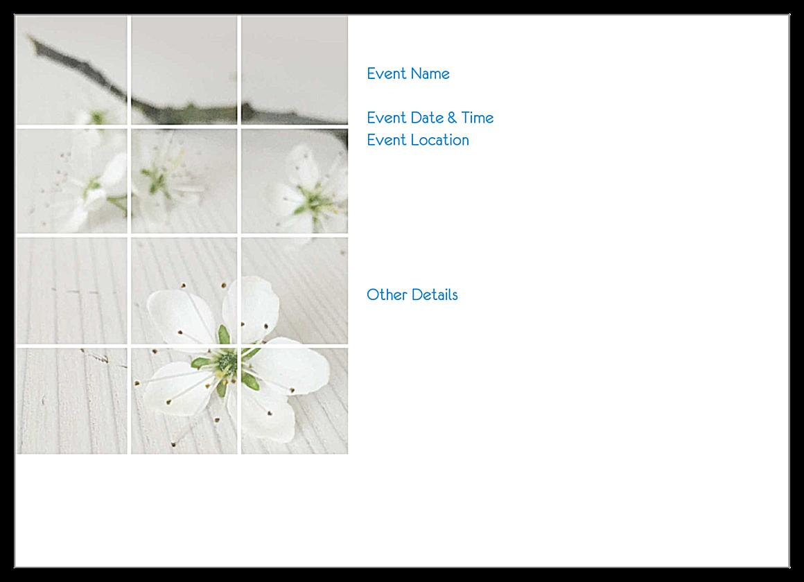 Blossom back - Invitation Cards Maker