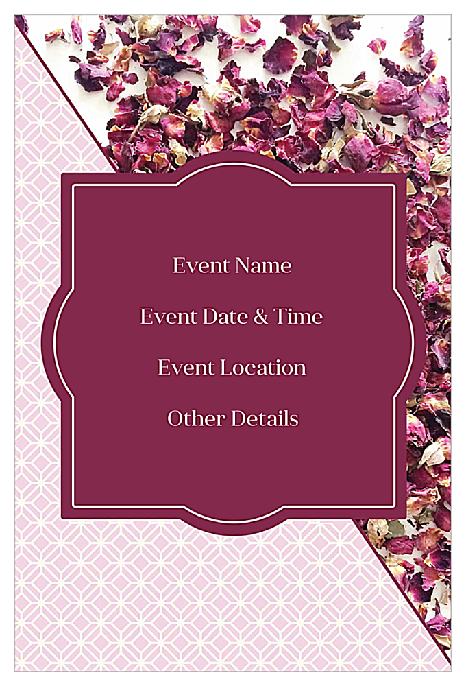 Rose Petals back - Invitation Cards Maker