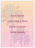 Palm Sale - invitation-cards Maker