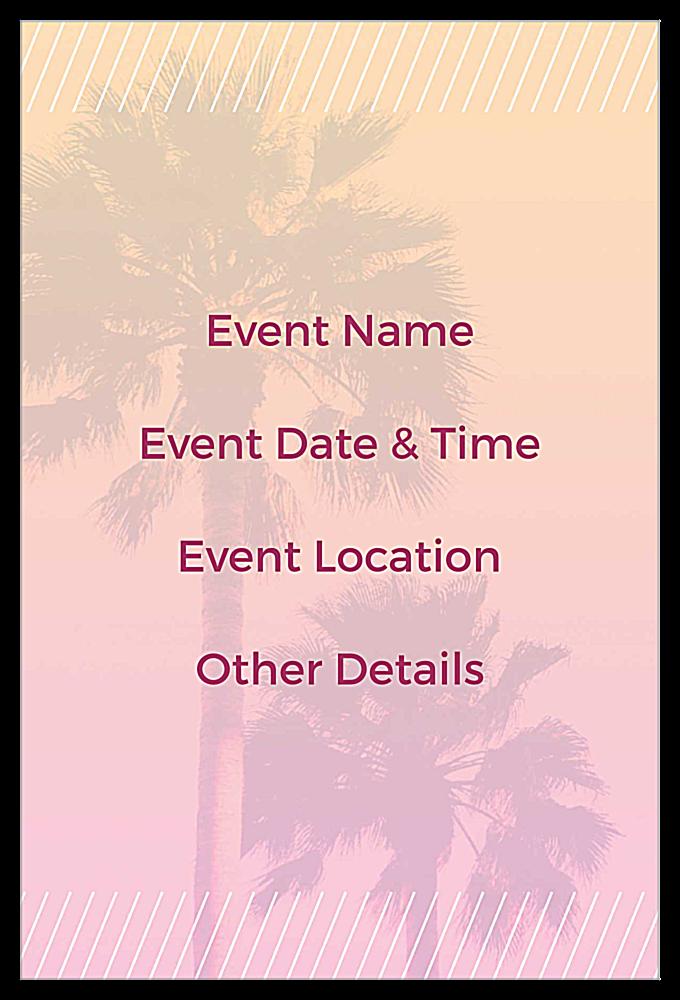 Palm Sale back - Invitation Cards Maker