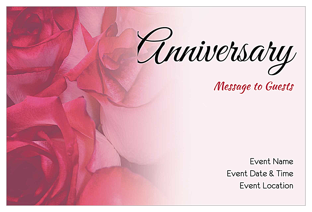 Roses front - Invitation Cards Maker