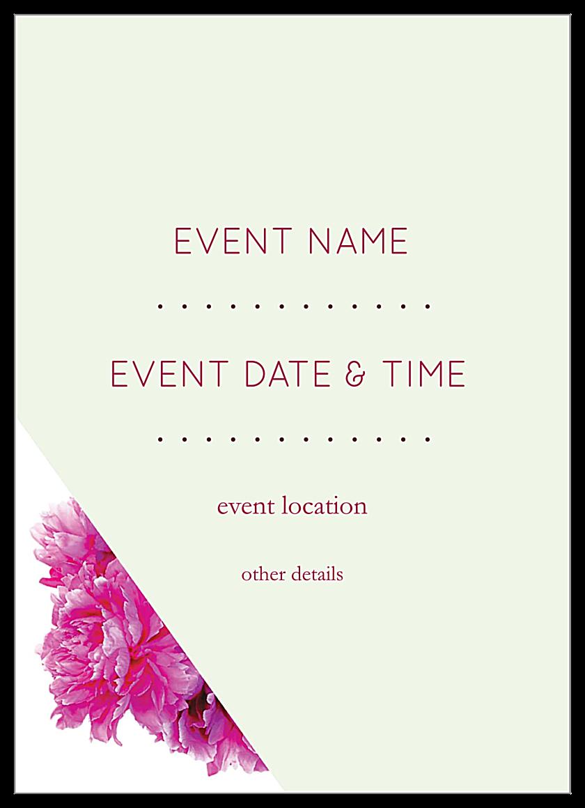 Floral Triangles back - Invitation Cards Maker