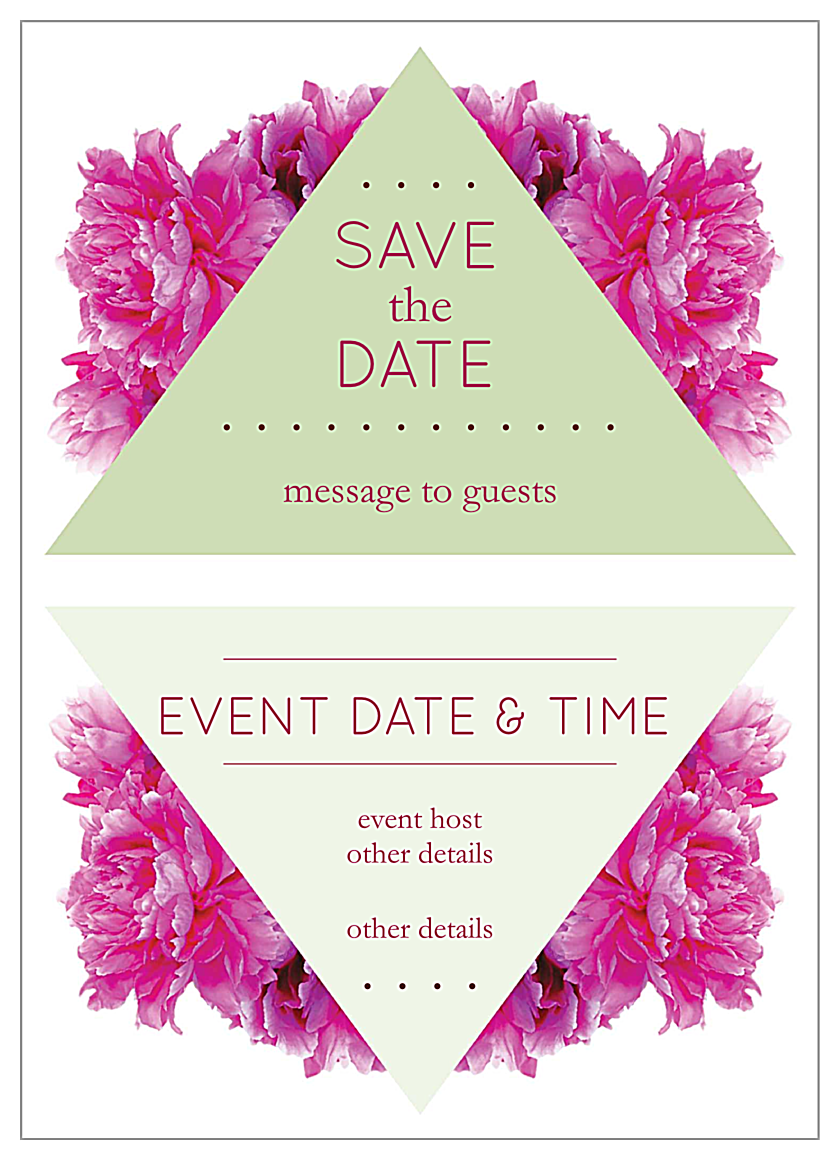 Floral Triangles front - Invitation Cards Maker