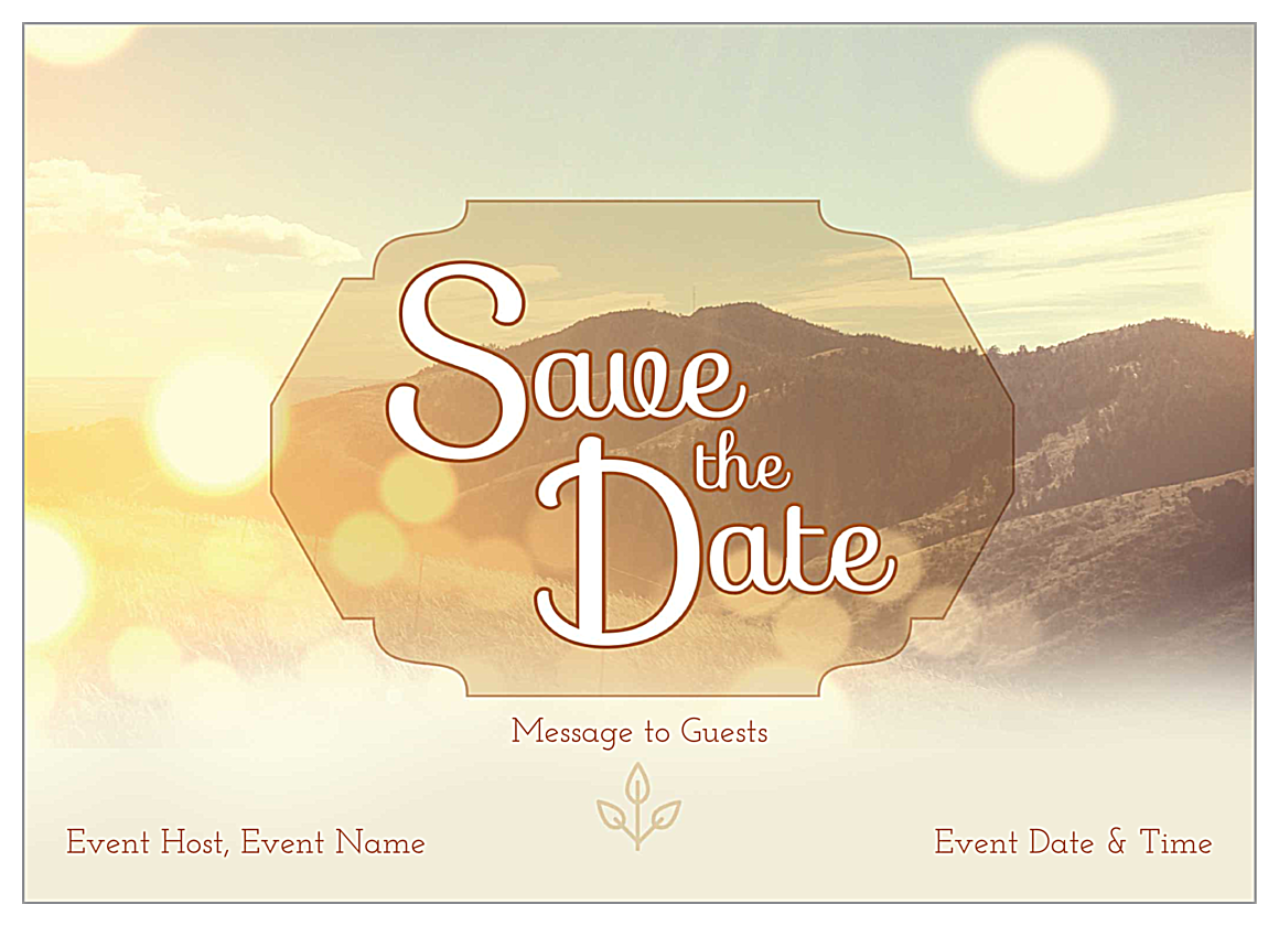 Free Mountains Customizable Invitation Card Design Template front - Invitation Cards Maker