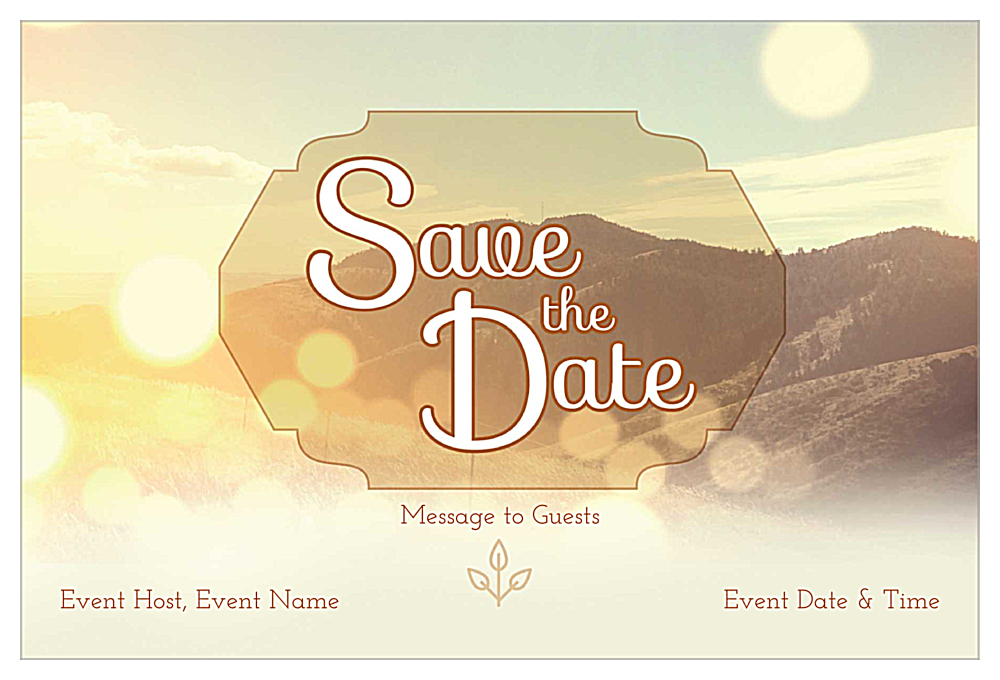 Mountains front - Invitation Cards Maker