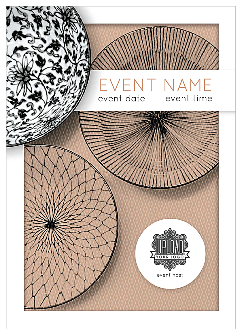 Easy To Personalize Elegant Weave Invitation Card Template
