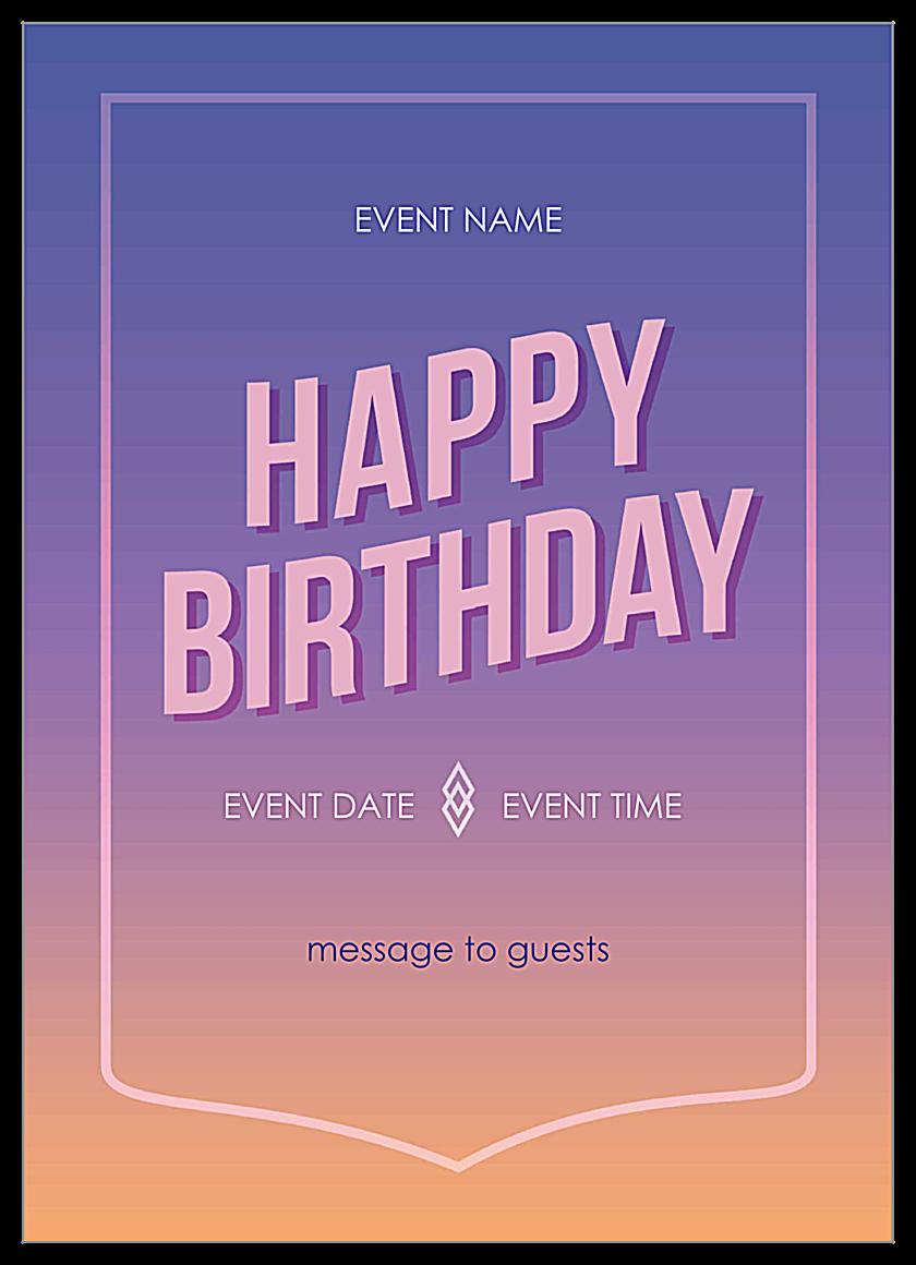 Gradiance front - Invitation Cards Maker