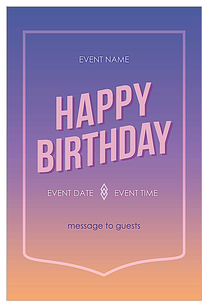 Easy To Use Color Blend Invitation Card Design Template