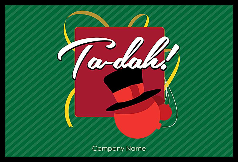 Top Hat Ornament front - Invitation Cards Maker