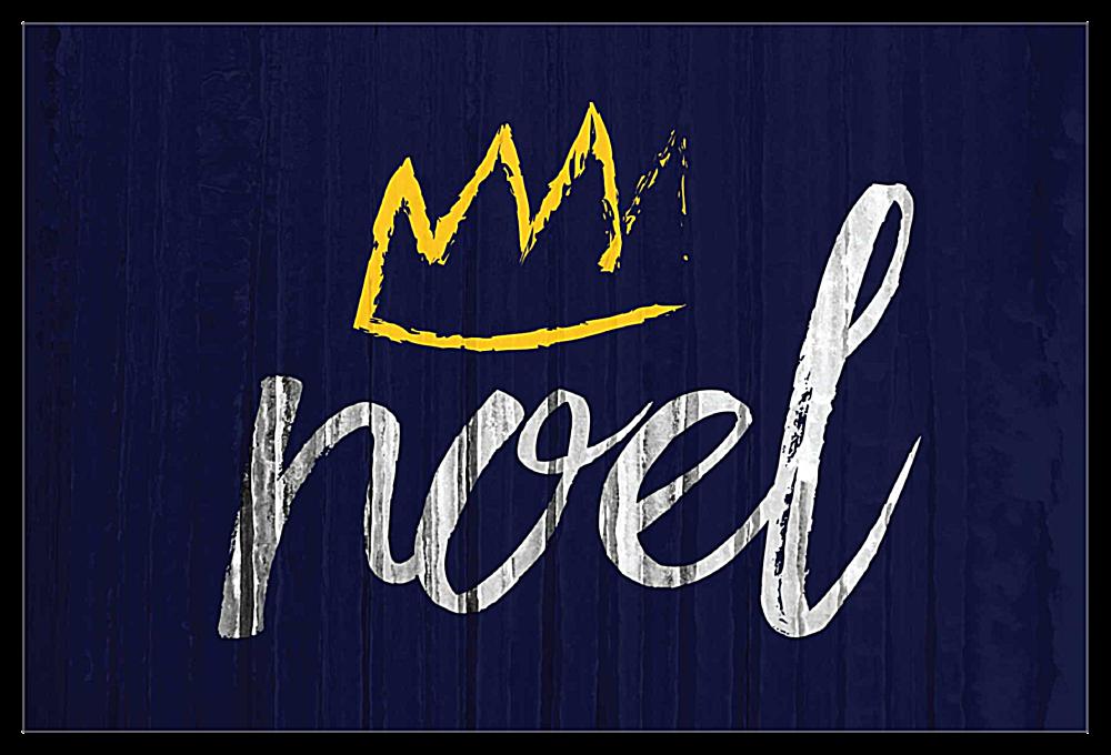Crowned Noel front - Invitation Cards Maker