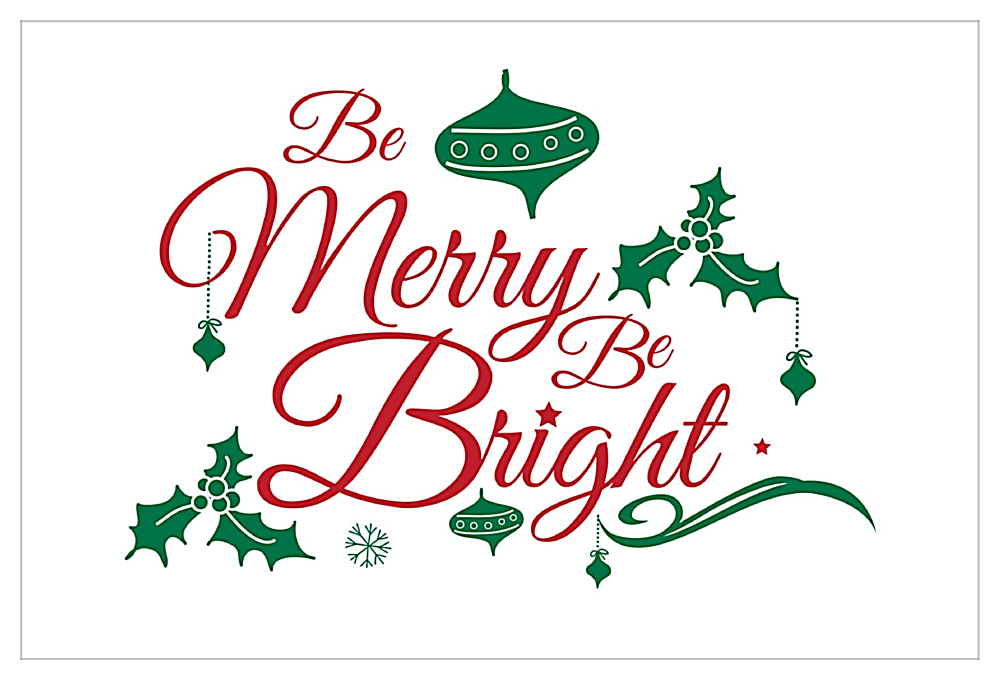 Merry Bright front - Invitation Cards Maker