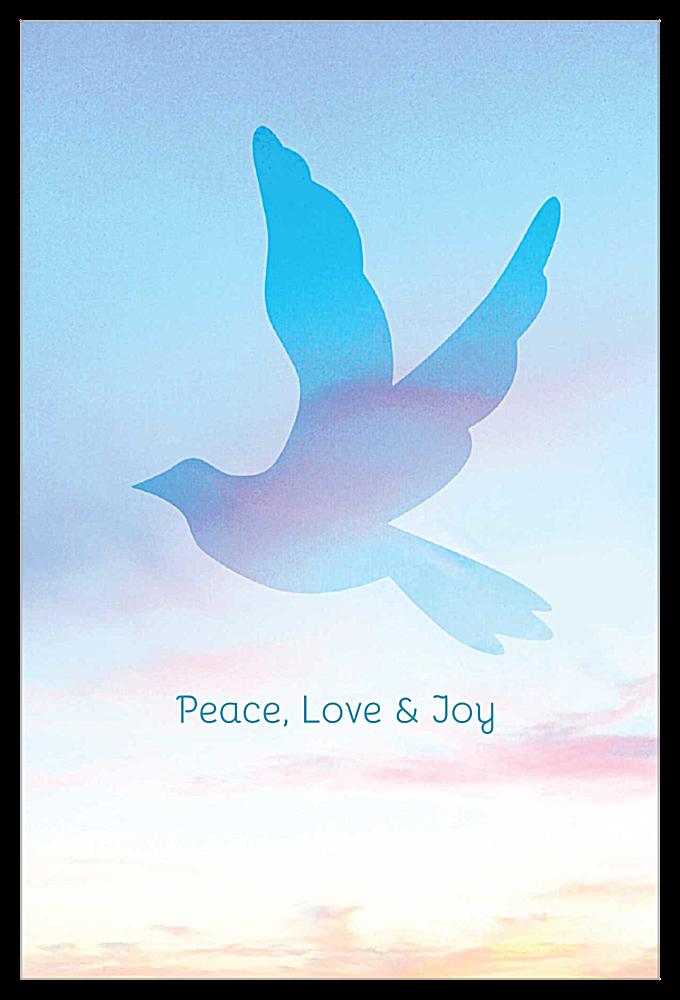 Flying Dove front - Invitation Cards Maker