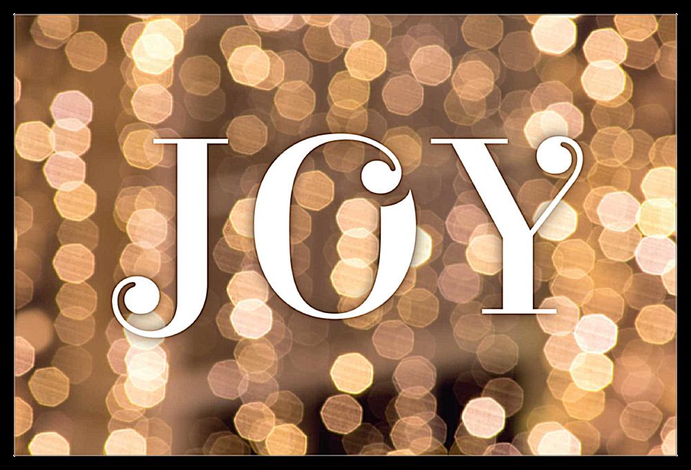 Glitter Joy front - Invitation Cards Maker