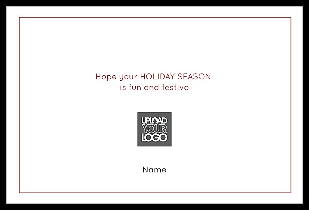 Snowy Reindeer back - Invitation Cards Maker