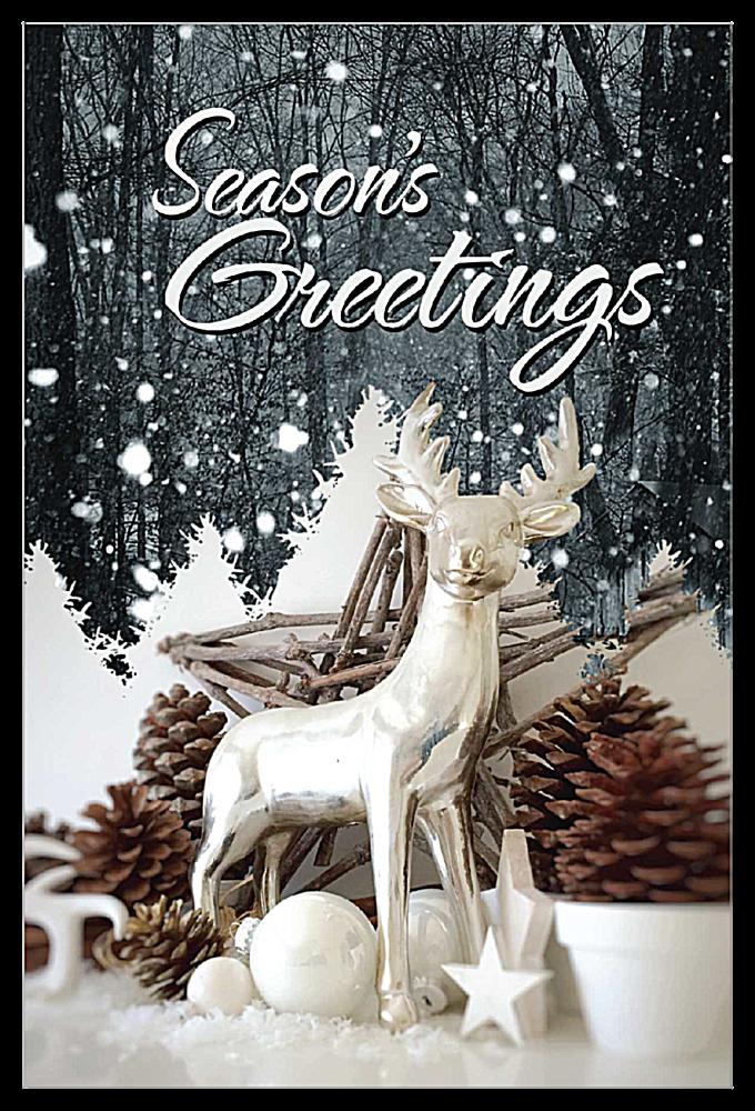 Snow Deer front - Invitation Cards Maker