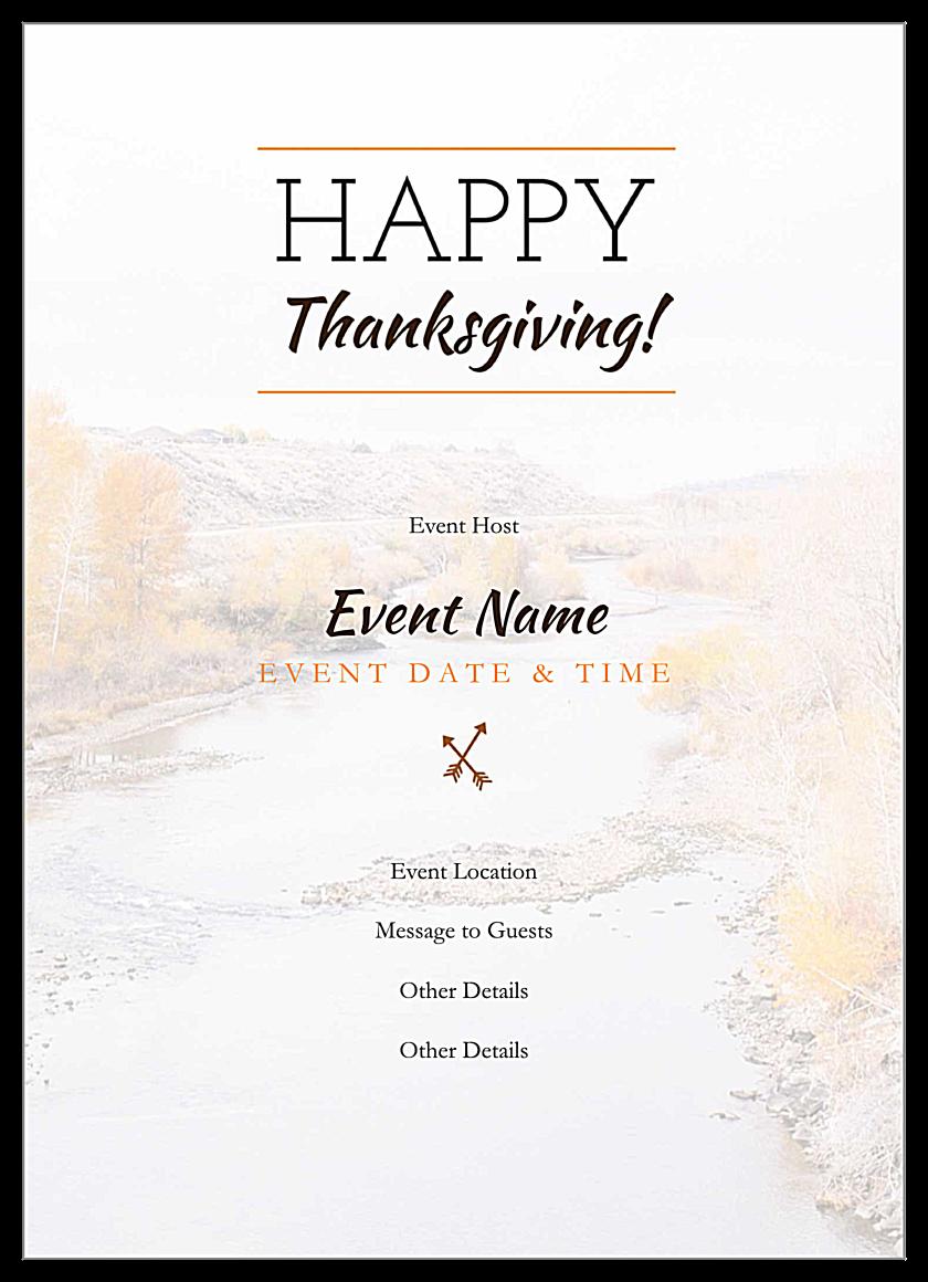 Autumnal Gratitude back - Invitation Cards Maker