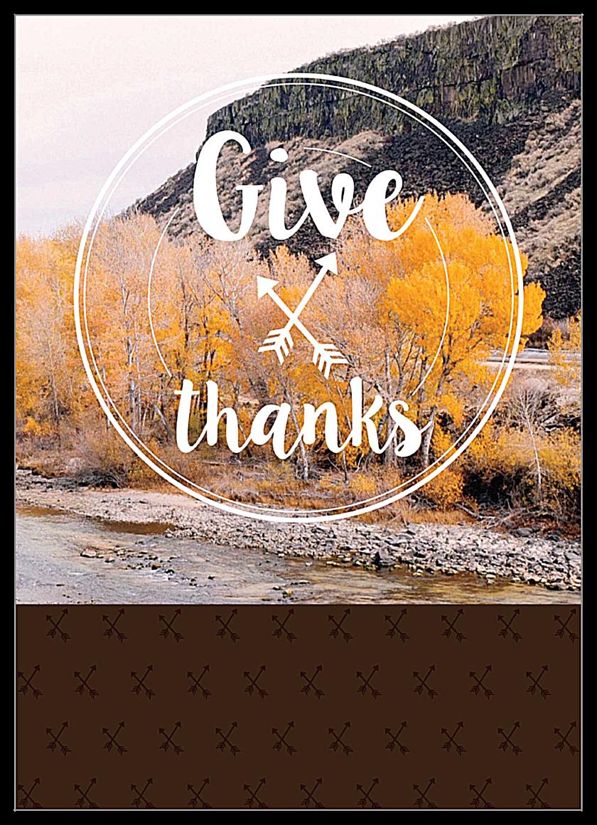 Autumnal Gratitude front - Invitation Cards Maker
