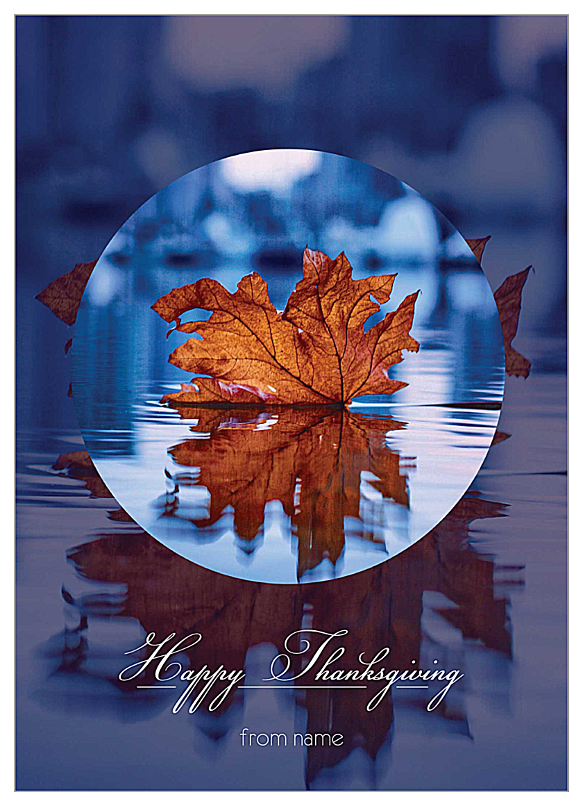 Fall Reflections front - Invitation Cards Maker