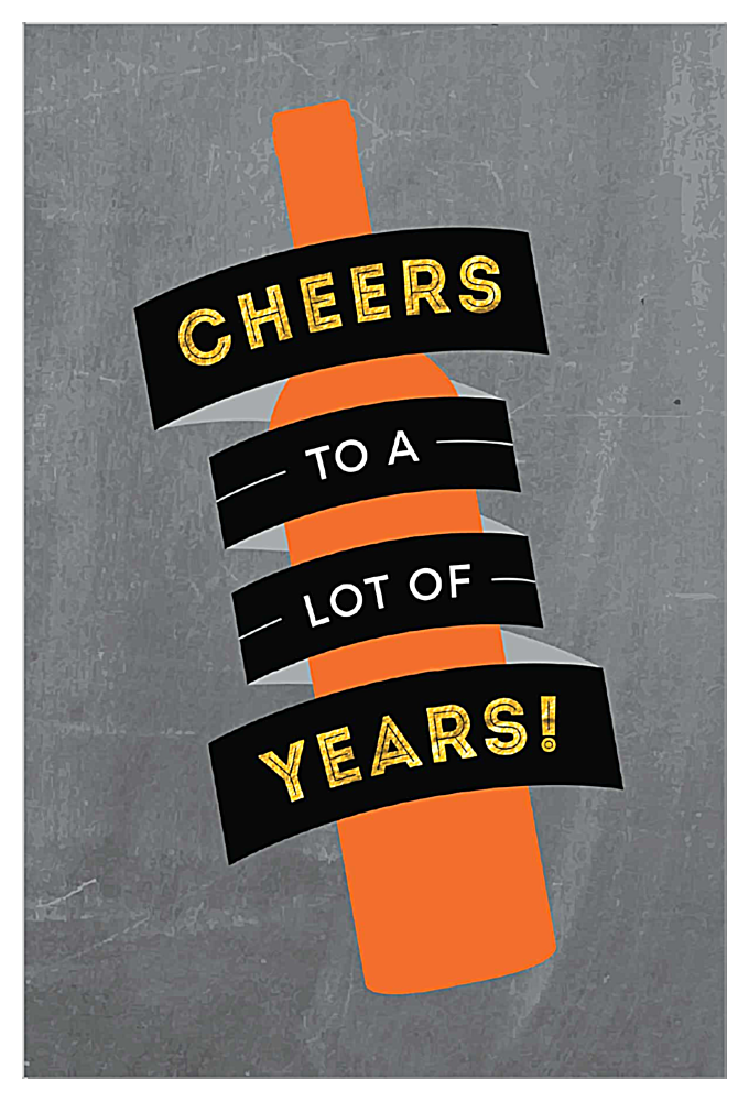 Cheers the Years front - Invitation Cards Maker