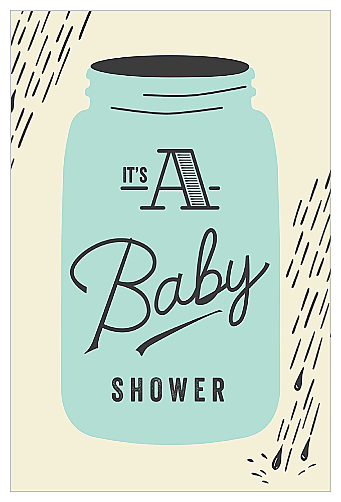 Raindrops Baby Shower front - Invitation Cards Maker