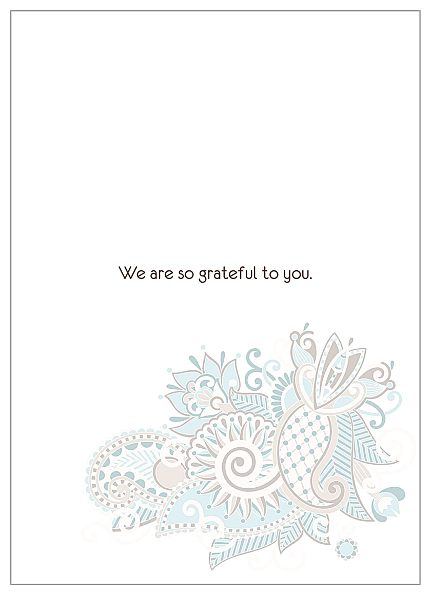 Paisley Thanks back - Invitation Cards Maker