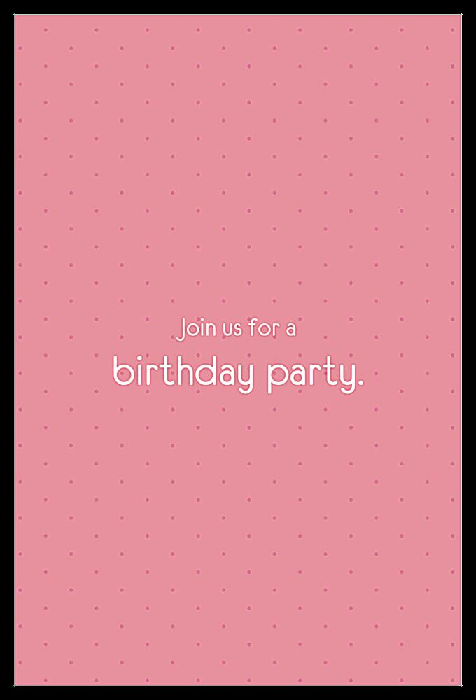 Birthday Balloons back - Invitation Cards Maker